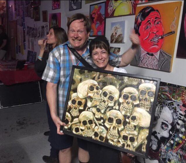 Art buyer with event organizer